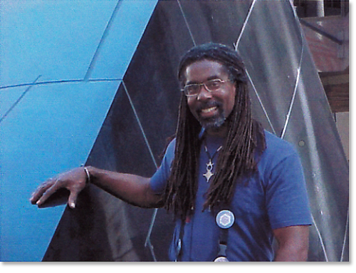 "Wanye and the ""Transcendence"" sculpture"